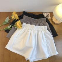 Casual pants Black, dark grey, white S,M,L Summer 2021 shorts Wide leg pants High waist commute routine 18-24 years old 51% (inclusive) - 70% (inclusive) Korean version