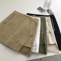 Casual pants S,M,L Summer 2021 shorts Wide leg pants High waist commute routine 18-24 years old 51% (inclusive) - 70% (inclusive) Korean version zipper