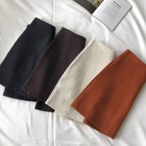 skirt Autumn 2020 S,M,L,XL Orange, coffee, black, apricot Short skirt commute High waist Solid color Type A 18-24 years old 51% (inclusive) - 70% (inclusive) zipper Korean version