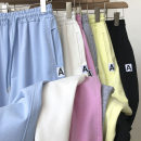 Casual pants Black, gray, white, blue, light yellow, pink M,L,XL Summer 2021 Ninth pants Haren pants High waist commute routine 18-24 years old 51% (inclusive) - 70% (inclusive) Korean version pocket