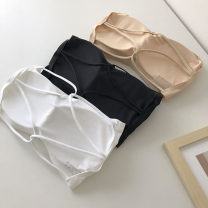 undergarment covering the chest and abdomen Summer 2021 Average size Black, apricot, white singleton  have cash less than that is registered in the accounts commute Self cultivation 18-24 years old Solid color 51% (inclusive) - 70% (inclusive) backless Korean version