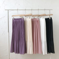skirt Summer 2021 Average size Black, white, purple, apricot, pink Mid length dress commute High waist Solid color Type A 18-24 years old 51% (inclusive) - 70% (inclusive) Korean version