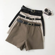 Casual pants White, black, brown S,M,L Summer 2021 shorts Wide leg pants High waist commute routine 18-24 years old 51% (inclusive) - 70% (inclusive) Korean version pocket
