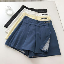 Casual pants Blue, white, light yellow, black S,M,L Summer 2021 shorts Wide leg pants High waist commute routine 18-24 years old 51% (inclusive) - 70% (inclusive) Korean version