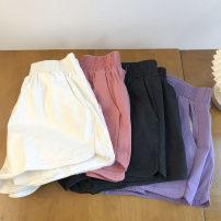 Casual pants Black, purple, white, pink M, L Summer 2021 shorts Wide leg pants High waist commute routine 18-24 years old 51% (inclusive) - 70% (inclusive) Korean version pocket