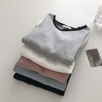 T-shirt Gray, white, blue, black, pink Average size Summer 2021 Short sleeve Crew neck Self cultivation have cash less than that is registered in the accounts commute other 51% (inclusive) - 70% (inclusive) 18-24 years old Korean version Solid color