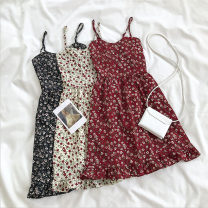 Dress Summer 2020 Black, red, apricot Average size Mid length dress singleton  commute Socket camisole 18-24 years old Type A Korean version