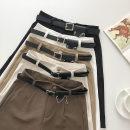Casual pants Brown, black, white, khaki, apricot S,M,L Summer 2021 Pant Straight pants High waist commute routine 18-24 years old 51% (inclusive) - 70% (inclusive) Korean version belt