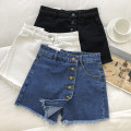 Jeans Summer 2021 Black, white, blue S,M,L shorts High waist Wide legged trousers routine 18-24 years old 51% (inclusive) - 70% (inclusive)