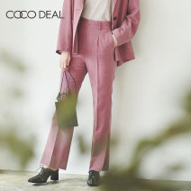 Casual pants [F] Dark red [R] blue 36 38 Autumn 2020 trousers Wide leg pants High waist Sweet routine 25-29 years old Coco Deal pocket Other 100% Same model in shopping mall (sold online and offline) solar system