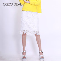 skirt Summer of 2018 36 38 Middle-skirt Sweet High waist A-line skirt Big flower Type H 25-29 years old More than 95% Coco Deal polyester fiber Cut out lace Polyester 100% Same model in shopping mall (sold online and offline) solar system