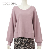 Sweater / sweater Winter of 2019 [A] Off white [v] purple [Z] black Long sleeves routine Socket singleton  routine easy Bat sleeve Solid color 25-29 years old 81% (inclusive) - 90% (inclusive) Coco Deal cotton Asymmetry Cotton 85% polyester 15% Same model in shopping mall (sold online and offline)