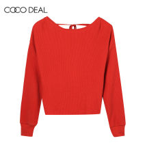 Wool knitwear Summer of 2018 Long sleeves singleton  Socket cotton More than 95% Regular routine Sweet easy Low crew neck routine Solid color Socket 25-29 years old Coco Deal Frenulum Cotton 100% solar system