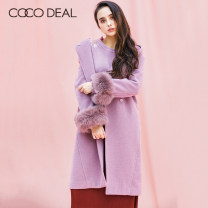 woolen coat Winter 2017 36 38 40 [B] Beige [C] dark pink [l] coffee wool 31% (inclusive) - 50% (inclusive) Medium length Long sleeves Sweet Buckle routine Hood Solid color Straight cylinder Coco Deal 25-29 years old Solid color Polyester 50% wool 50% solar system