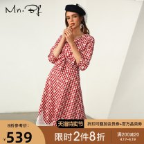 Fashion suit Autumn of 2019 XS S M L XL red-checkered pattern 25-35 years old Manor bieffe 96% and above Cotton 53% polyester 47% Pure e-commerce (online only)