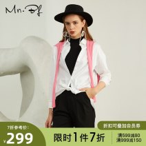 shirt White and black XS S M L XL Spring 2021 cotton 96% and above Long sleeves commute Regular stand collar zipper routine Solid color 25-29 years old Straight cylinder Manor bieffe M2013E3076 Button Cotton 97% polyurethane elastic fiber (spandex) 3%