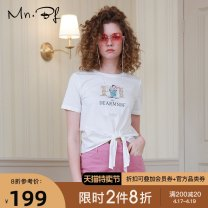 T-shirt XS S M L XL Summer 2020 Short sleeve Crew neck Self cultivation have cash less than that is registered in the accounts routine street cotton 96% and above 25-29 years old fairy tale Cartoon animation Manor bieffe Bandage Cotton 100% Same model in shopping mall (sold online and offline)