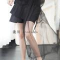 Casual pants black S,M,L Spring 2021 shorts Wide leg pants High waist commute routine 51% (inclusive) - 70% (inclusive) 21SSST06 en blan polyester fiber Simplicity fold Viscose Asymmetry