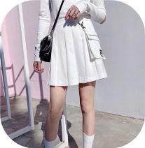 skirt Spring 2021 S. M, add V: koz226 first order minus 15 White, black Short skirt fresh 18-24 years old