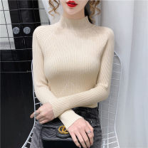 Wool knitwear Winter 2020 Average size Black, red, khaki, blue, dark green, apricot Long sleeves singleton  Socket other 71% (inclusive) - 80% (inclusive) routine commute Self cultivation Pile collar raglan sleeve Solid color Socket Korean version CM-AG6314