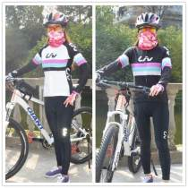 Cycling wear female LIV RACE DAY S M L XS XL XXL White plush Long Sleeve Top Black Plush long sleeve top liv pants Giant / giant car cover Autumn and winter