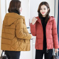 Women's large Winter of 2018 cotton-padded clothes singleton  commute easy thickening Cardigan Long sleeves Solid color Korean version Hood have cash less than that is registered in the accounts Three dimensional cutting routine pocket 81% (inclusive) - 90% (inclusive) zipper Cotton 96% and above
