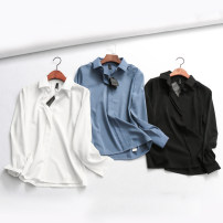 Lace / Chiffon Autumn of 2018 White, black, blue S,M,L Long sleeves Cardigan singleton  Straight cylinder Regular Solid color routine