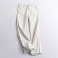 Jeans Spring of 2019 white 36,38,40,42 trousers High waist Wide legged trousers routine light colour