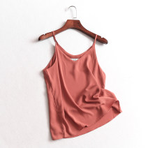 Vest sling Summer of 2019 singleton  routine Versatile camisole Solid color 96% and above polyester fiber
