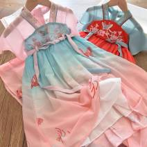 Tang costume Red, pink 7-100,9-110,11-120,13-130,15-140 Other 100% female spring and autumn Tagkita / she and others other Solid color 2 years old , 7 years old , 8 years old , 3 years old , 5 years old , 6 years old , 4 years old , 9 years old Chinese Mainland