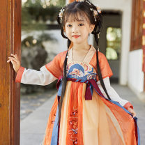 Tang costume A stupid cat in the waves 90,100,110,120,130,140 Other 100% female spring and autumn routine A stupid cat other Solid color Cotton liner 2, 7, 3, 5, 6, 4 Chinese Mainland