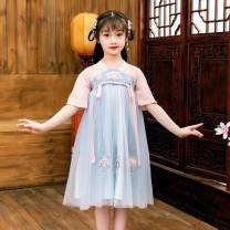Tang costume Cherry pink skirt, cherry blue skirt 110,120,130,140,150 Other 100% female summer Thin money Tagkita / she and others other Broken flowers Cotton liner 2, 7, 3, 5, 6, 4 Chinese Mainland