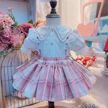 suit 0-3 Pink 90, 100, 110, 120, 130, 140 female spring and autumn Chinese style routine Single breasted nothing Broken flowers Other 100% 2 years old, 3 years old, 4 years old, 5 years old, 6 years old, 7 years old, 8 years old Chinese Mainland
