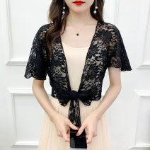 Lace / Chiffon Summer 2020 Short sleeve Versatile Cardigan singleton  easy have cash less than that is registered in the accounts V-neck Solid color Bat sleeve 30-34 years old 31% (inclusive) - 50% (inclusive)