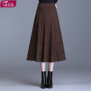skirt Winter 2020 Average size Black Brown longuette Versatile High waist Pleated skirt Solid color Type A 25-29 years old DZNWM2085-906 More than 95% knitting Duzini polyester fiber Folded Plaid Polyester 97% other 3% Pure e-commerce (online only)