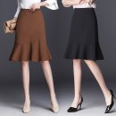 skirt Winter of 2018 S M L XL 2XL 3XL 4XL Black (spring and summer woven fabric) Khaki (spring and summer woven fabric) black (spring and autumn woolen fabric) Khaki (spring and autumn woolen fabric) Short skirt Versatile High waist Ruffle Skirt Solid color Type H 25-29 years old DZNQQ1821 Wool