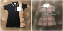 Dress Patchwork Polo skirt (in stock), Plaid Dress (mid April) female Other / other 4 / 105, 5 / 110, 6 / 115, 8 / 125, 10 / 140, 12 / 150, 14 / 160, 16 / 165 Cotton 100% lattice cotton A-line skirt