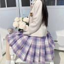 skirt Summer 2020 XS,S,M,L,XL 42 length, 45 length, 48 length Short skirt fresh High waist lattice Type A polyester fiber