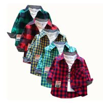 shirt Other / other neutral spring and autumn Long sleeves Korean version lattice Pure cotton (100% cotton content) Lapel and pointed collar Cotton 100% Class B