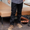 Casual pants Acered / Ruizhi Fashion City Elegant black Khaki Sapphire M L XL 2XL 3XL Plush and thicken trousers Other leisure easy Micro bomb X826-2 winter old age Business Casual Medium high waist Straight cylinder Cotton 100% Pocket decoration washing Solid color Winter of 2019