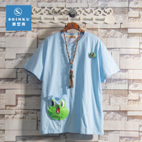 T-shirt Youth fashion routine S M L XL Soinku / tidal type reservoir Short sleeve Crew neck standard Other leisure summer Cotton 100% teenagers routine tide Spring 2021 Animal design printing other No iron treatment Fashion brand Pure e-commerce (online only)