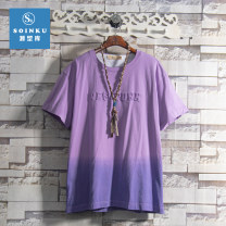 T-shirt Youth fashion Purple yellow routine S M L XL Soinku / tidal type reservoir Short sleeve Crew neck standard Other leisure summer HQW4008 Cotton 100% teenagers routine tide Spring 2021 Alphanumeric Gradients Creative interest tie-dyed Fashion brand Pure e-commerce (online only)
