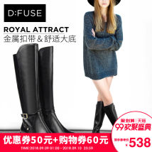 Boots Thirty-four 10 black top layer leather