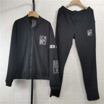Leisure sports suit spring M,L,XL,2XL,3XL,4XL,5XL Black, gray Long sleeves Other / other trousers youth Sweater C29C4
