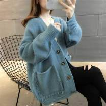 Pajamas / housewear set female Other / other Average size (weight less than 80-140 Jin) Nj44 hole blue, nj44 pink, nj44 light blue, nj44 Navy, nj44 apricot, nj44 brick red wool Long sleeves Simplicity winter routine Solid color Button More than 95%
