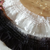 lace One piece is 7.5cm wide in black, one piece is 7.5cm wide in white, one piece is 9cm wide in black, one piece is 9cm wide in white, and one piece is about 90cm in natural state Buju bundle