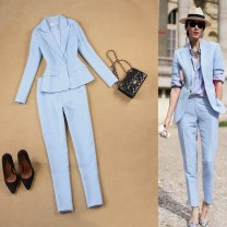 Professional pants suit Top, pants, pink suit, pink leggings S. M, l, XL, suit 99 yuan, pants 79 yuan Summer of 2019 Other styles Long sleeves 17-T090 trousers Mi Jing 25-35 years old 30% and below spandex