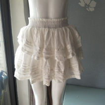 skirt Spring of 2019 XS,S,M,L White genuine stock Lotus edge, hook flower, hollow out, tie dye