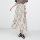 skirt Summer 2021 Average size Dark, light Mid length dress commute High waist A-line skirt Broken flowers Type A 931ec More than 95% other Other / other polyester fiber printing Korean version 201g / m ^ 2 (including) - 250G / m ^ 2 (including)