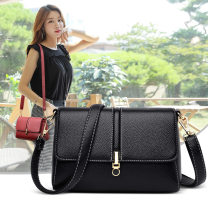Bag Inclined shoulder bag PU Small square bag Other / other Black, blue, purple, red, yellow brown brand new Japan and South Korea Small leisure time soft zipper no Solid color Double root One shoulder portable messenger Yes youth Horizontal square Sewing Handling handle soft surface Bag with cover